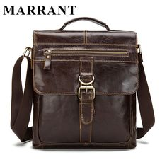MARRANT Genuine Leather bag Men Bags Fashion Male Messenger Bag Men's Briefcase Man Casual Crossbody bags Shoulder Handbag 1292 -- View the item in details by clicking the image