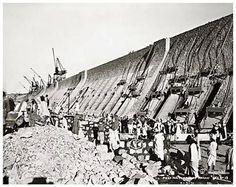 خزان أسوان اثناء تشييده عام 1900..