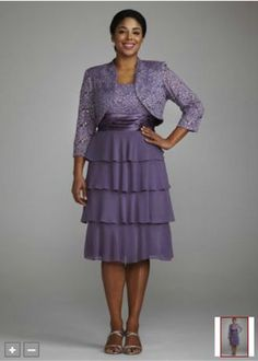 Purple Mother's of the Bride Dress