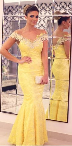 #yellow #lace  #prom #party #evening #dress #dresses #gowns #cocktaildress #EveningDresses #promdresses #sweetheartdress #partydresses #QuinceaneraDresses #celebritydresses #2017PartyDresses #2017WeddingGowns #2017HomecomingDresses #LongPromGowns #blackPromDress #AppliquesPromDresses #CustomPromDresses #backless #sexy #mermaid #LongDresses #Fashion #Elegant #Luxury #Homecoming #CapSleeve #Handmade #beading