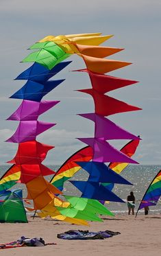 "Very commercial in the choice of colors - but hey, what an eye-catcher! This could be a wind spinner design, rotating slowly on a swivel in the bridle. A good, heavy-duty swivel. T.P. (my-best-kite.com) ""Color Wheel"" Cropped from a photo by Lester Public Library on Flickr. Go Fly A Kite, Kite Flying, Wind Socks, Kite Designs, Wind Sculptures, Geometric Fashion, Wind Spinners, Paper Plane, Fun Hobbies"