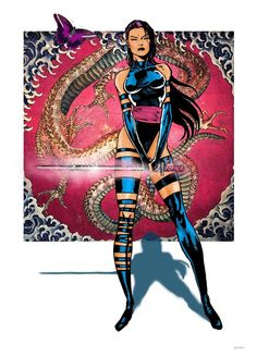 Small tribute to my favorite comic book character, Psylocke and of course that monster comic as Jim Lee, one of my favorite comic artists. Marvel Dc, Marvel Comic Universe, Marvel Women, Comics Universe, Marvel Heroes, Comic Book Artists, Comic Book Characters, Comic Artist, Marvel Characters