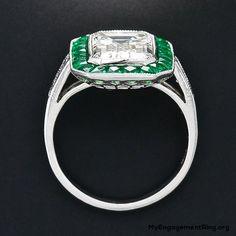 emerald cut diamond engagement ring - My Engagement Ring