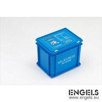 Milieubox 400x300x340 mm, 30 ltr, met snapsluitingen, blauw