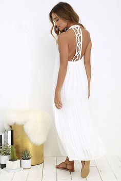 Billabong Steal Sunshine Ivory Maxi Dress at Lulus.com!