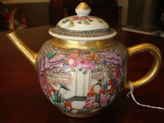 18th c. chinese famille rose teapot
