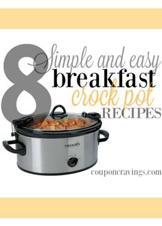 Don't cook on Valentine's Day! Whip out the 'ol Slow Cooker - these Crockpot Breakfast recipes have been pinned over 500,000 times. They're some of the most popular, all in one spot!