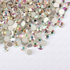 Rhinestones Decorations  Free Shipping! 1440pcs/Lot, ss3 (1.3-1.5mm) Crystal AB /Clear AB Flatback ( Nail Art ) Non Hot Fix Glue on Glass Rhinestones ** Click the image to visit the AliExpress website