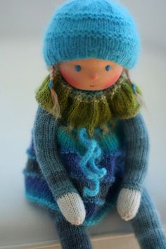 Custom order for Nicole-Waldorf knitted doll 13 von danielapetrova