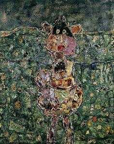 Jean Dubuffet - La Pointe au Pitre 1956. Oil on canvas. 144 x 116 cm. Stedelijk Museum, Amsterdam.