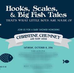 New Fishing Baby Shower Invitation For The Future Little Fishermen!