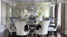 Morgan Harrison Home: Morgan Harrison Home - Amazing contemporary dining room with Visual Comfort lIghting ...