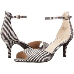 Seychelles Hazel (Black/White Stripe) High Heels ($62) ❤ liked on Polyvore featuring shoes, sandals, black, black shoes, black and white shoes, open toe sandals, black and white sandals and white and black sandals