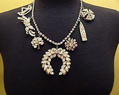 Vintage Necklace Runway Rhinestone Art Deco  Art Nouveau Bling