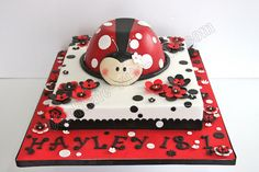 Lady Bug Piñata Cake