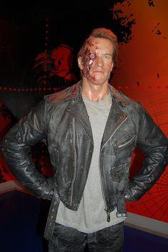 The Terminator wax figure @ Madame Tussauds Wax Museum Hollywood, California Famous Celebrities, Celebs, Wax Statue, Wax Museum, California Vacation, Madame Tussauds, Sports Stars, Baker Street, Film Industry