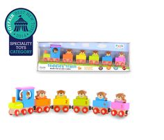 Wooden Teddies Train Learn to Count