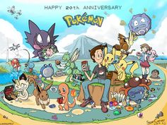 My friend drew this to celebrate 20 years. Fans will find small jokes within the illustration. - Imgur