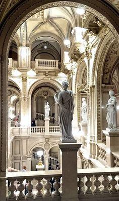 Opera House, Vienna Neoclassical Architecture, Baroque Architecture, Ancient Architecture, Beautiful Architecture, Beautiful Buildings, Interior Architecture, Beautiful Places, Modern Buildings, Landscape Architecture