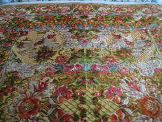Vintage Italian Cut Plush Velvet Bedspread, Rug or Tablecloth with Cherubs-Never Used x Velvet Bedspread, Cherubs, Vintage Italian, Bed Spreads, Blankets, Plush, Pillows, Rugs, Bedroom