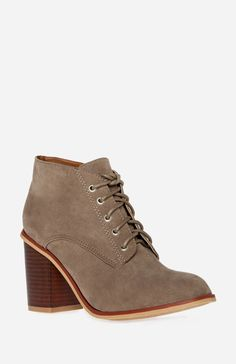 Chunky Heel Lace Up Booties