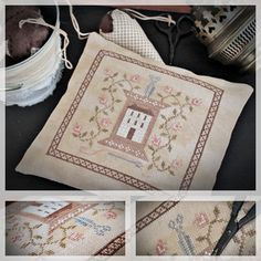 Stitcher's House / Primitive Cross stitch by TheSubRosaDesign