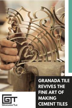 Cement Tiles | Uncover the secrets behind making artistic cement tiles. Watch now. #GranadaTile #interiordesign #art #ecofriendly