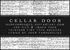 Tiny Text Brushes by dungeonesque.deviantart.com on @DeviantArt