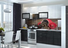 Kuchynská zostava VALENCIA BLACK 260 do modernej domácnosti. Dvierka sú vyrobené z kvalitnej MDF vo farbe biela a čierna so striebornými vláknami v lesku. Kovové úchytky. #byvanie #domov #nabytok #kuchyne  #kuchynskelinky #modernynabytok #designfurniture #furniture #nabytokabyvanie #nabytokshop #nabytokainterier #byvaniesnov #byvajsnami #domovvashozivota #dizajn #interier #inspiracia #living #design #interiordesign #inšpirácia Black Stripes, Valencia, Kitchen Cabinets, Table, Furniture, Home Decor, Decoration Home, Room Decor, Cabinets
