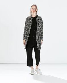 BOUCLÉ COAT - Outerwear - WOMAN | ZARA United States