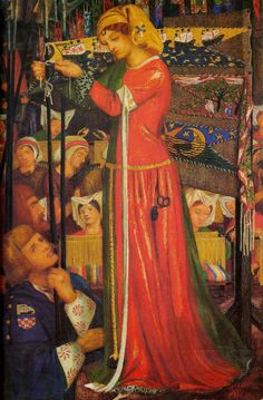 Before the Battle~ Dante Gabriel Rossetti (English, 1828-1882)