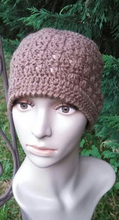 Amazing Grace Hat was designed as a Charity Crochet Hat. Free Pattern.  In honor of Breast Cancer Awareness. .