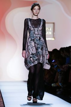 Look 9 - Hervé Léger by Max Azria Ready To Wear Spring Summer 2016 New York - NOWFASHION
