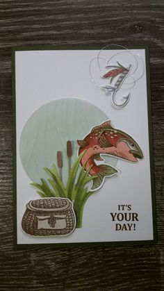 Stampin' Up! Best Catch Craft Shed, Post It Note Holders, New Catalogue, Masculine Cards, Creative Cards, Homemade Cards, Stampin Up Cards, Emerald, Greeting Cards
