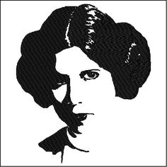 Star Wars Embroidery Design Princess Leia