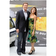 Will Ferrell and Eva Mendes at the Santo Mauro Hotel ❤ liked on Polyvore
