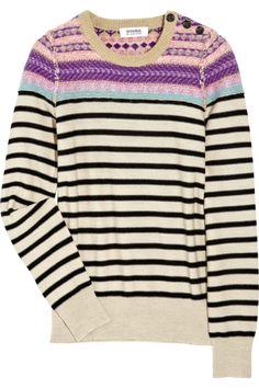 Sonia by Sonia Rykiel Fair Isle wool-blend sweater