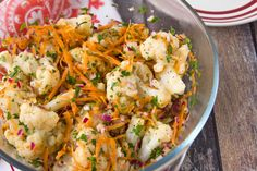 A 10-minute cauliflower slaw that will cut through all of the starch on your spread this season.