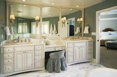 Master Bathroom Vanity - oh my god dream bathroom! Dream Home Design, My Dream Home, House Design, Master Bathroom Vanity, Master Bathrooms, Bathroom Vanities, Sinks, Master Bath Remodel, Beautiful Bathrooms