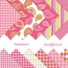 Daydream paisley digital paper pack for от JazzyPatterns на Etsy