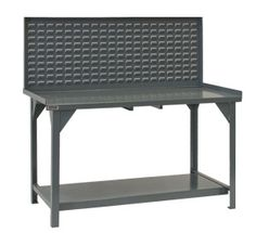 "72"" Heavy Duty Workbench with Louvered Back Panel"