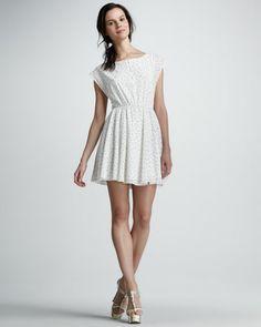 $297  Matilda Polka-Dot Dress by Alice + Olivia at Bergdorf Goodman.