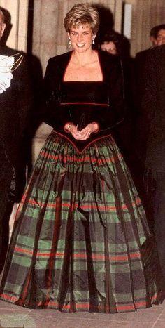 Christmas Eve parties usually mean a taffeta tartan skirt