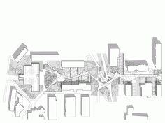Velenje City Center Pedestrian Zone Promenada by Enota « Landscape Architecture Works Plans Architecture, Landscape Architecture, Architecture Diagrams, Architecture Portfolio, Architecture Design, Parque Linear, Park Pictures, Plan Drawing, Site Plans