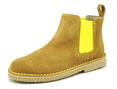 Tienda online de botines en serraje a contraste con elástico para niño, niña, señora y caballeros.