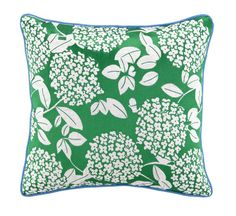Cipriana Green Embroidered Tropical Pillow buy at Blue Barnacles  www.bluebarnacles.com
