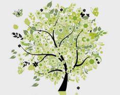 Stock Illustrations tree-butterflies vector