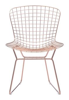 Zuo Modern Set of 2 Wire Chairs, Rose Gold