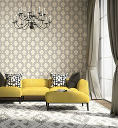 Structure Chain Link Wallpaper from the Symetrie Collection by Brewster Home Fashions