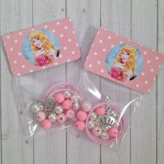 8 - Aurora Sleeping Beauty 16 DIY Necklace Kit Party Favor or Party Activity Birthday or Slumber Party Activity - pinned by Princess Aurora Party, Princess Party Favors, Princess Birthday, Diy Birthday, Birthday Party Favors, Slumber Party Activities, Sleepover Party, Slumber Parties, Pajama Party